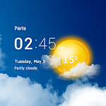 Download Transparent clock & weather - forecast & radar APK